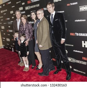 NEW YORK - MARCH 21: Paul & Nancy Pelosi, Alexandra Pelosi, Jim McGreevey, Michiel, Paul, Thomas Vos attend premiere HBO documentary Fall to Grace at Time Warner Center on March 21, 2013 in New York