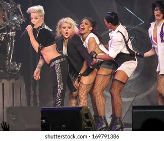 NEW YORK - MARCH 22: Alecia Moore aka as Pink performs at Madison Square Garden on March 22, 2013 in New York City.