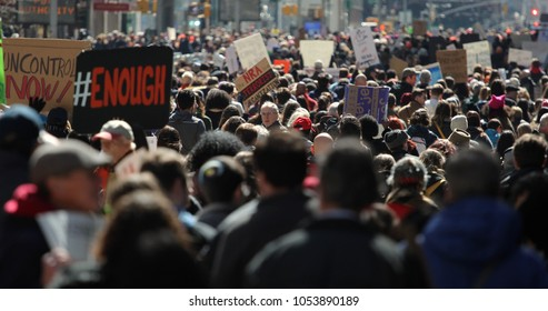 NEW YORK - MARCH 24. 2018: March For Our Lives