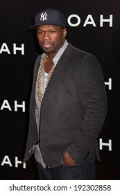 "NEW YORK - MARCH 26, 2014: Curtis ""50 Cent"" Jackson attends the premiere of ""Noah"" at the Ziegfeld Theater on March 26, 2014 in New York City."