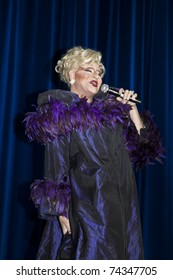 NEW YORK - MARCH 26: Drag Star Electra St. Jill as Bette Midler performs on stage at 25th Night of a Thousand Gowns at The New York Marriott Marquis on March 26, 2011 in New York City.