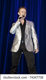 NEW YORK - MARCH 26: Marty Thomas of off-Broadway musical My Big Gay Italian Wedding performs on stage at 25th Night of a Thousand Gowns at The New York Marriott Marquis on March 26, 2011 in NYC