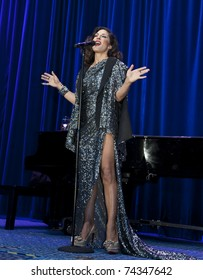 NEW YORK - MARCH 26: Sylvia Tosun performs on stage at 25th Night of a Thousand Gowns at The New York Marriott Marquis on March 26, 2011 in New York City.