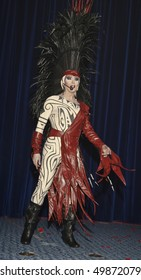 NEW YORK - MARCH 27: Drag artist Jesse Volt performs at the 24th Annual Night of a Thousand Gowns at The Marriott Marquis in Times Square on March 27, 2010 in New York City.