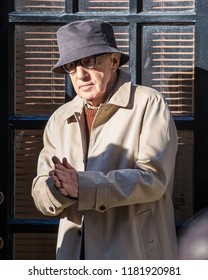 NEW YORK - MARCH 7: Woody Allen is seen on March 7, 2016 in New York City.