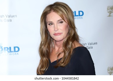 New York - March 8, 2018: Caitlyn Jenner attends the Sixth Annual World Values Network Champions of Jewish Values Awards Gala at the Plaza Hotel on March 8, 2018, in New York.