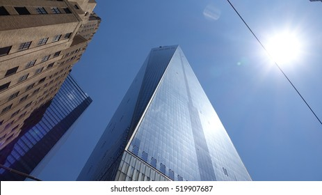NEW YORK, NEW YORK MAY 1 2014: Tall Buildings And High Rises on May 1 2014 in New York New York