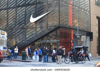 New York- May 10 2019: the nike flagship in new york.