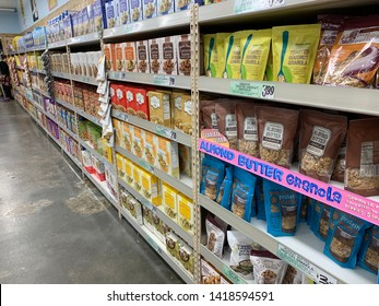 New York - May 11 2019: Trader Joe's store in new york. Trader Joe's is an American chain of grocery stores based in Monrovia, California