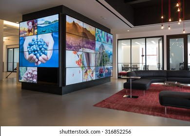 NEW YORK - MAY 13, 2015: Shutterstock office in Manhattan. Shutterstock, founded in 2003 by Jon Oringer, is a stock photography, stock footage and stock music provider headquartered in New York City.