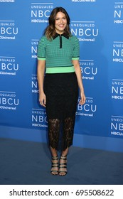 NEW YORK - MAY 15, 2017: Mandy Moore attends the 2017 NBCUniversal Upfront on May 15, 2017, in New York.