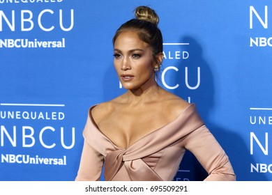 NEW YORK - MAY 15, 2017: Jennifer Lopez attends the 2017 NBCUniversal Upfront on May 15, 2017, in New York.