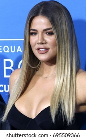 NEW YORK - MAY 15, 2017: Khloe Kardashian attends the 2017 NBCUniversal Upfront on May 15, 2017, in New York.