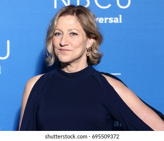 NEW YORK - MAY 15, 2017: Edie Falco attends the 2017 NBCUniversal Upfront on May 15, 2017, in New York.