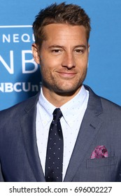 NEW YORK - MAY 15, 2017: Justin Hartley attends the 2017 NBCUniversal Upfront on May 15, 2017, in New York.