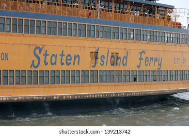 NEW YORK - MAY 17: The Staten Island Ferry John F. Kennedy is shown on May 17, 2013 in New York.