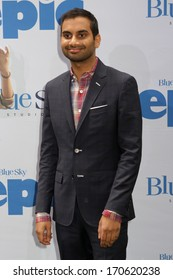 """NEW YORK - MAY 18: Aziz Ansari attends a screening of """"Epic"""" at the Ziegfeld Theatre on May 18, 2013 in New York City."""