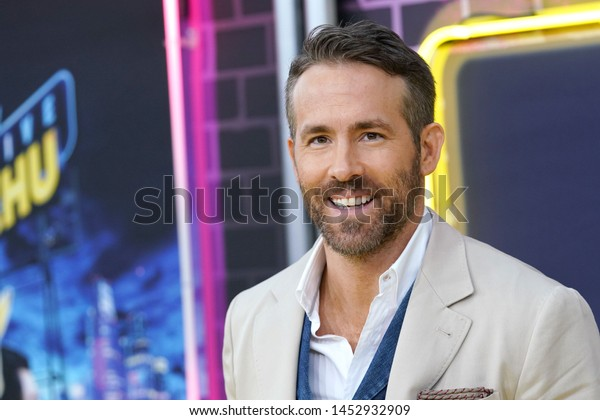 "NEW YORK - MAY 2, 2019: Ryan Reynolds attends the premiere of ""Pokemon Detective Pikachu"" in Times Square on May 2, 2019, in New York City."
