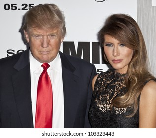 NEW YORK - MAY 23:  Donald and Melania Trump attend the 'Men In Black 3' New York Premiere at Ziegfeld Theatre on May 23, 2012 in New York City.