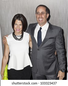 NEW YORK - MAY 23: Jerry and Jessica Seinfeld attend the 'Men In Black 3' New York Premiere at Ziegfeld Theatre on May 23, 2012 in New York City.