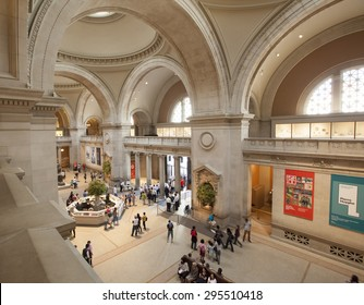 NEW YORK - May 26, 2015: The Metropolitan Museum of Art  located in New York City, is the largest art museum in the United States and one of the ten largest in the world.