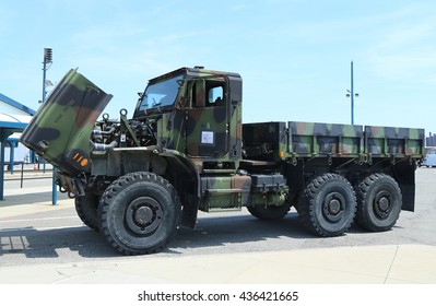 NEW YORK - MAY 26, 2016:US Marines Medium Tactical Vehicle Replacement presented during Fleet Week 2016 in New York