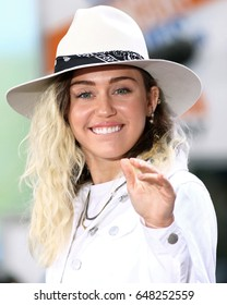 """NEW YORK - May 26, 2017: Miley Cyrus performs on the NBC """"Today"""" show concert series on May 26, 2017, in New York City."""