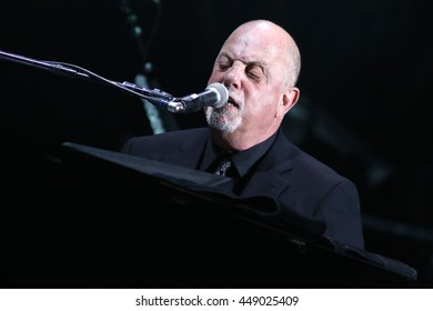 NEW YORK - MAY 27, 2016: Billy Joel performs in concert at Madison Square Garden on May 27, 2016, in New York City.