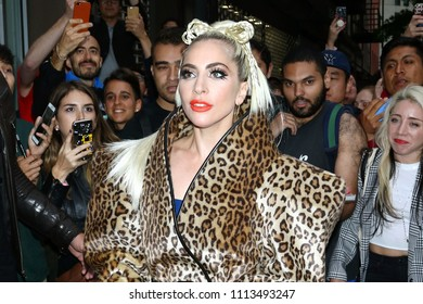 NEW YORK - MAY 27, 2018: Lady Gaga is seen on May 27, 2018, in New York City.