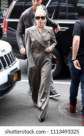 NEW YORK - MAY 28, 2018: Lady Gaga is seen on May 28, 2018, in New York City.