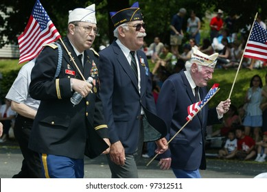 NEW YORK - MAY 29:  Veterans participate in the Little Neck/Douglaston Memorial Day Parade May 29, 2006 in Queens, NY.