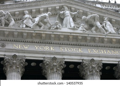 NEW YORK - MAY 30: The New York Stock Exchange facade is shown on May 30, 2013 in New York City. The Exchange building was built in 1903.