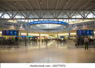 NEW YORK- MAY 8:  JetBlue Terminal 5 at John F Kennedy International Airport in New York on May 8, 2014