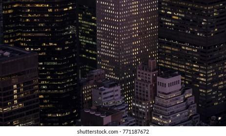 New York Night Cityscape  USA AMERICA