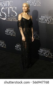 "NEW YORK - NOV 10, 2016:  Zoe Kravitz attends the premiere ""Fantastic Beasts And Where To Find Them"" at Alice Tully Hall on November 10, 2016, in New York City."