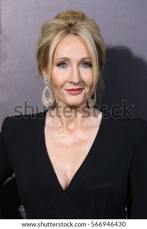 "NEW YORK - NOV 10, 2016:  J.K. Rowling attends the premiere ""Fantastic Beasts And Where To Find Them"" at Alice Tully Hall on November 10, 2016, in New York City."