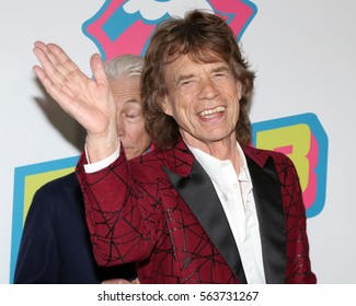 NEW YORK - NOV 15, 2016: Mick Jagger attends the Rolling Stones Exhibitionism opening at Industria November 15, 2016, in New York City.