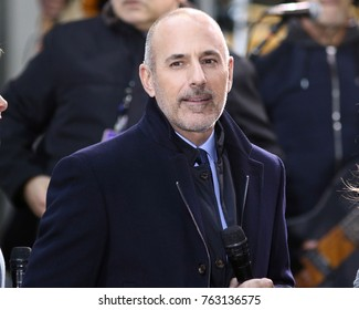 NEW YORK - NOV 17, 2017: Matt Lauer appears NBC Today Show on November 17, 2017, in New York City.