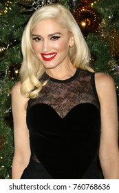 NEW YORK - NOV 20, 2017: Gwen Stefani flips the switch to light the Empire State Building and kick off the holiday season on November 20, 2017, in New York City.