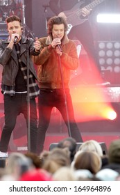 NEW YORK - NOV 26: Liam Payne and Harry Styles of One Direction perform on 'Good Morning America' in Central Park on November 26, 2013 in New York City.