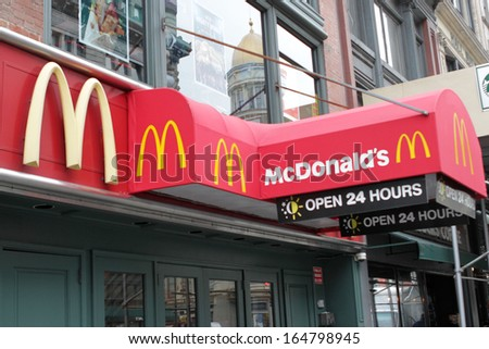 NEW YORK - NOV 27  An exterior view of a McDonalds fast food location in 19700f5a3