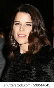 NEW YORK - NOV 28, 2016: Neve Campbell is seen on November 28, 2016, in New York City.