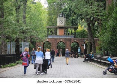 NEW YORK, NOV 5:Central Park Zoo outlook, in new york central park on 5 November 2016. central park zoo is the background story of  Madagascar film series