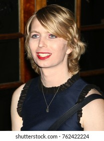 NEW YORK - NOV 9, 2017: Chelsea Manning attends the OUT100 Celebration Gala on November 9, 2017, in New York City.