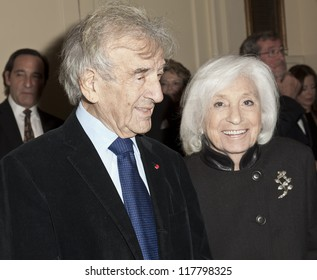 NEW YORK - NOVEMBER 05: Elie Wiesel attends Lenox Hill hospital Autumn ball, award ceremony and fundraising to hurricane SAndy victims in Waldorf Astoria Hotel on November 05, 2012 in New York CIty