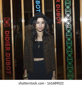 NEW YORK - NOVEMBER 05: Zoe Kravitz attends the Didier Dubot Jewelry collection by Nicola Formichetti Launch at The Standard on November 5, 2013 in New York City.