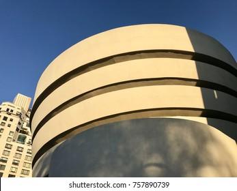 NEW YORK - NOVEMBER 12, 2017: The Solomon R. Guggenheim Art Museum in New York, USA.