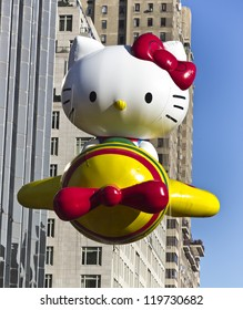 NEW YORK - NOVEMBER 22: Hello Kitty balloon is flown at the 86th Annual Macy's Thanksgiving Day Parade on November 22, 2012 in New York City.