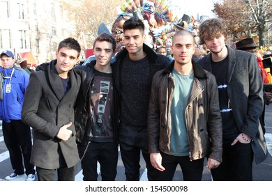 NEW YORK - NOVEMBER 22: Tom Parker, Nathan Sykes, Siva Kaneswaran, Max George and Jay McGuiness  of The Wanted attends the 86th Macy's Thanksgiving Day Parade on November 22, 2012 in New York City.