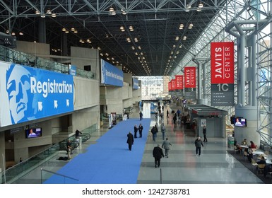 NEW YORK - NOVEMBER 27, 2018: The Jacob Javits Convention Center during the Greater NY Dental Meeting. The Greater New York Dental Meeting is the largest healthcare and dental event in USA